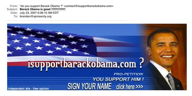 Obamaspam